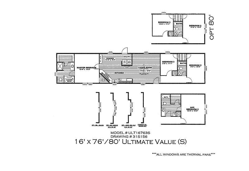 Ultimate value ult16763s san antonio mobile homes for Ultimate floor plans