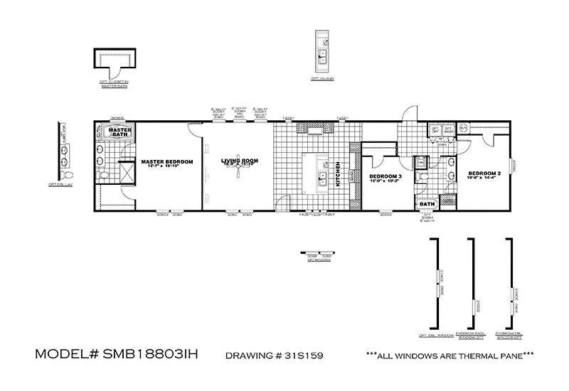 Big Hoss Smb18803i Floor Plan San Antonio Mobile Homes