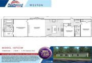 Fleetwood Weston 18763W Mobile Home Branded Floor Plan