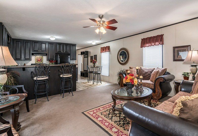 SUPER VALUE 1880T Mobile Home Kitchen and Living Room