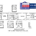SUPER VALUE 1880T Mobile Home Branded Floor Plan