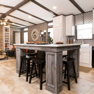 16803W-Kitchen Island and Living Room