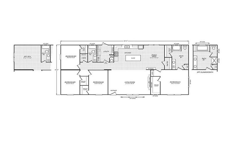 Fleetwood Weston - 32664W on double wide mobile home ideas, double wide mobile home elevations, double wide mobile home dimensions, double wide mobile home construction, double wide mobile home plans, double wide mobile home accessories,