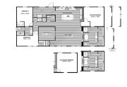 Clayton Farmhouse - Mobile Home - Floor Plan