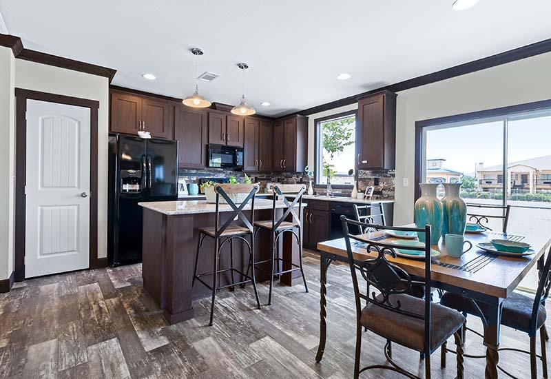 Hamilton Kitchen And Dining Area San Antonio Mobile Homes