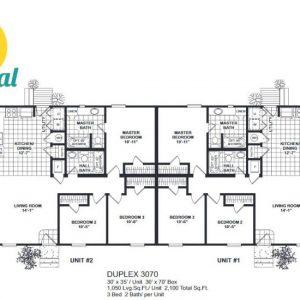Meridian Duplex 70 - 3070-FP