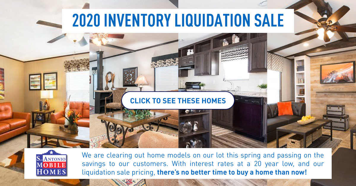 Inventory Liquidation Sale For Mobile Homes 2020